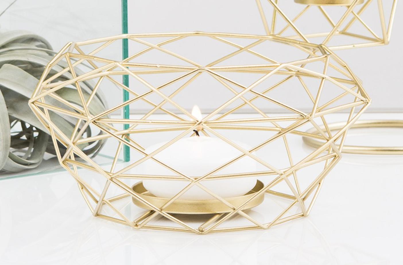 geometric tea light candle holder