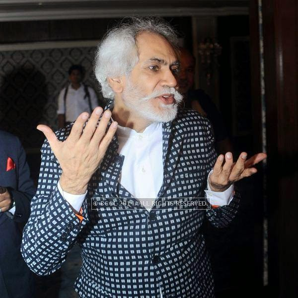 Sunil Sethi at fashion designer Rina Dhaka's pre show cocktail party, held in New Delhi.