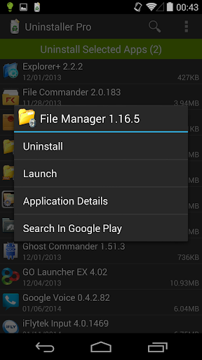 Uninstaller Pro v1.5.1 for Android