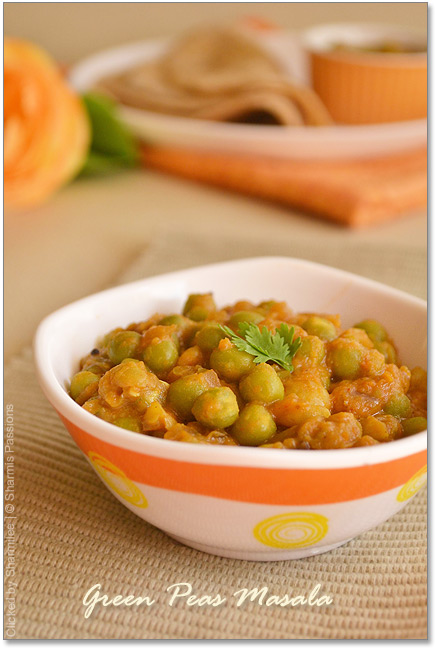 Green Peas Masala Recipe