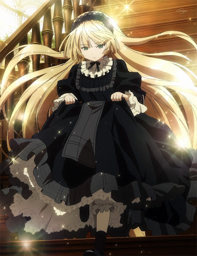 Gosick Victorian dress Victorique cute running glamor fashion