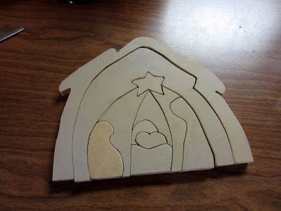 Lds craft project wooden nativity puzzle for Nativity cut out patterns wood