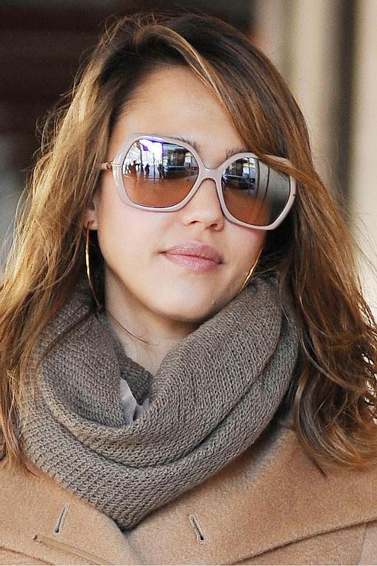 Jessica Alba sunglasses BE4107