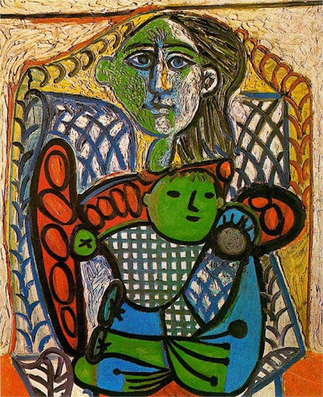 Pablo Picasso - Claude in the arms of his mother, 1948