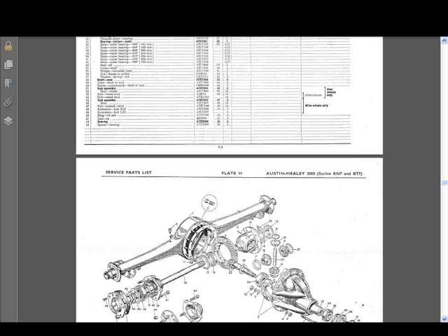austin healey 3000 parts manual 375pgs parts list w. Black Bedroom Furniture Sets. Home Design Ideas
