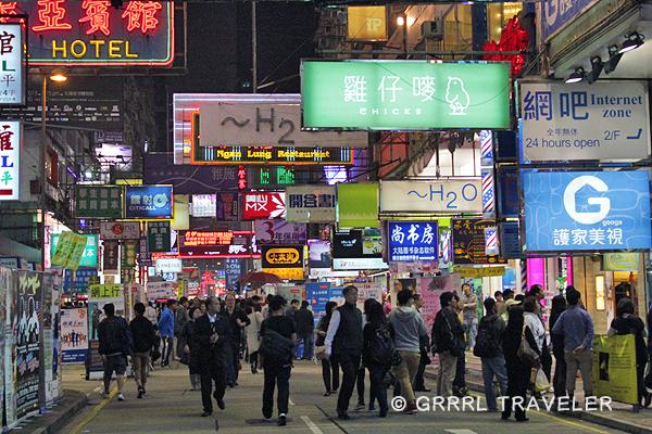 hong kong city at night, hong kong signs, hong kong city images, population in Asia china hong kong