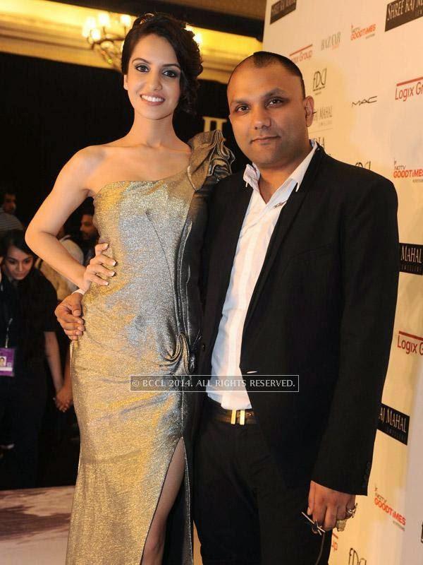 fbb Femina Miss India Koyal Rana with fashion designer Gaurav Gupta during his show, held in Delhi.