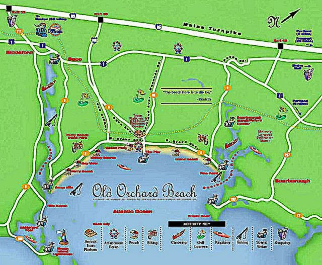 Old Orchard Beach Maine Map Best Pictures