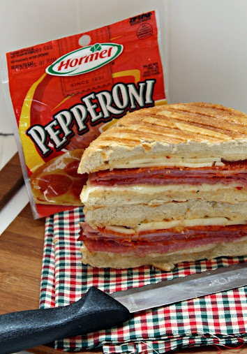 Hot Italian Panini Recipe made with Hormel Pepperoni #PepItUp