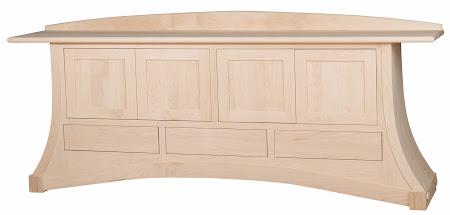 96″ x 36″ x 18″ Custom Adagio Credenza in Unfinished Hard Maple