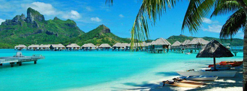 Masmavi deniz ve bungalovlar kapak fotoğrafları