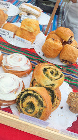 Some of the offerings at the Farmers market on Saturdays - Gabriel's Bakery, at both the Hollywood and PSU Portland Farmers Market