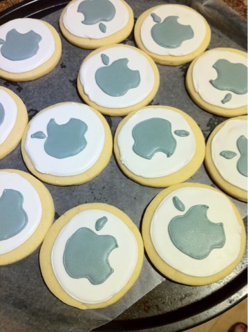 Decorated Apple rolled sugar cookies