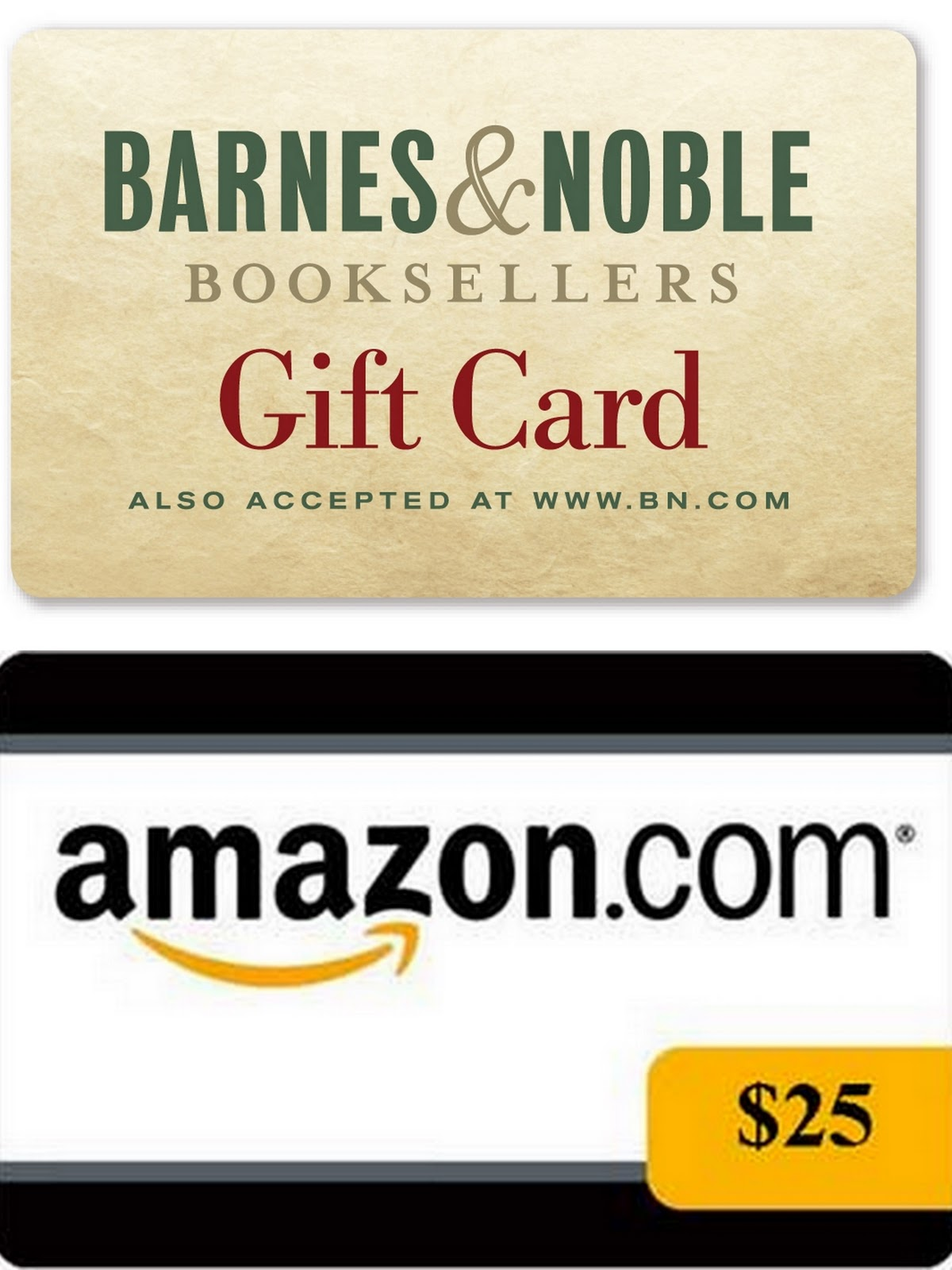Image result for $25.00 Amazon or Barnes and Noble Gift Card