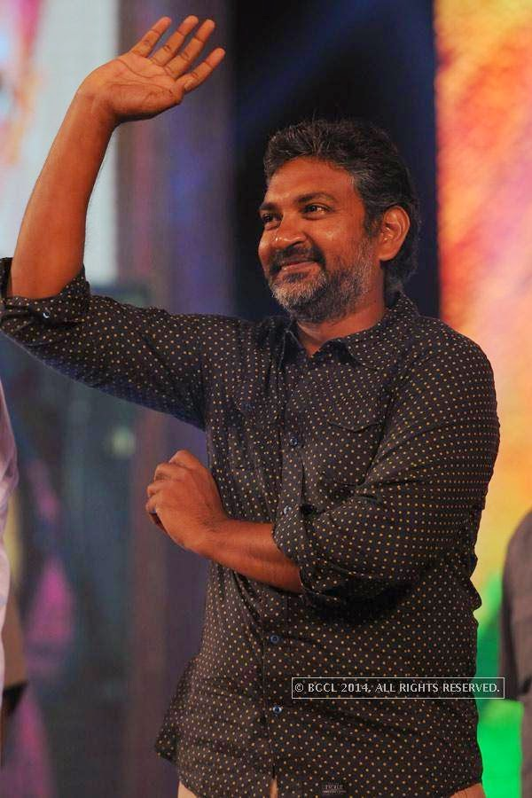 Rajamouli during the audio launch of a film in Hyderabad.