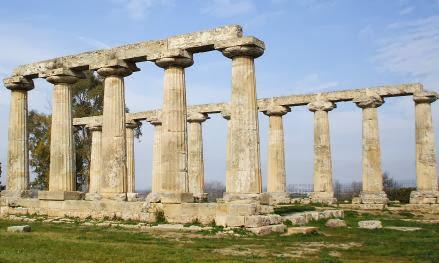 Hera-Tempel in Metaponto, Basilikata, Italien