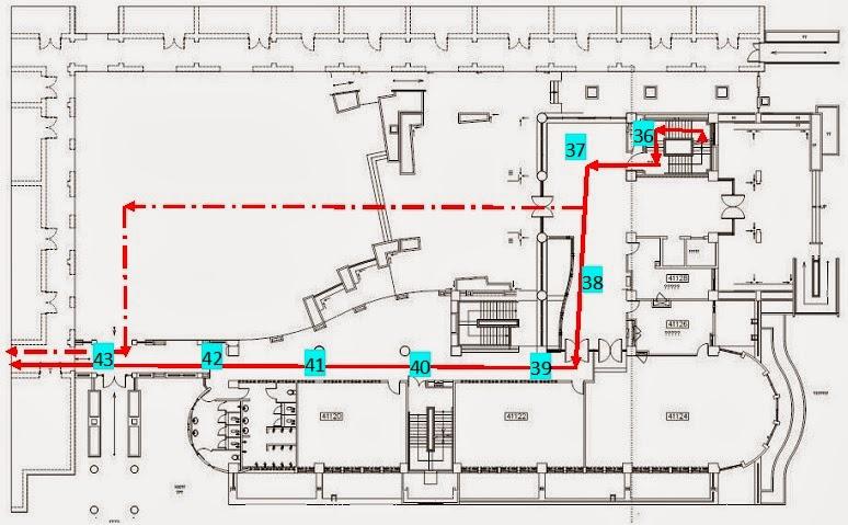 Fig.7. 工科館1樓平面圖(自B1至1樓再到戶外)