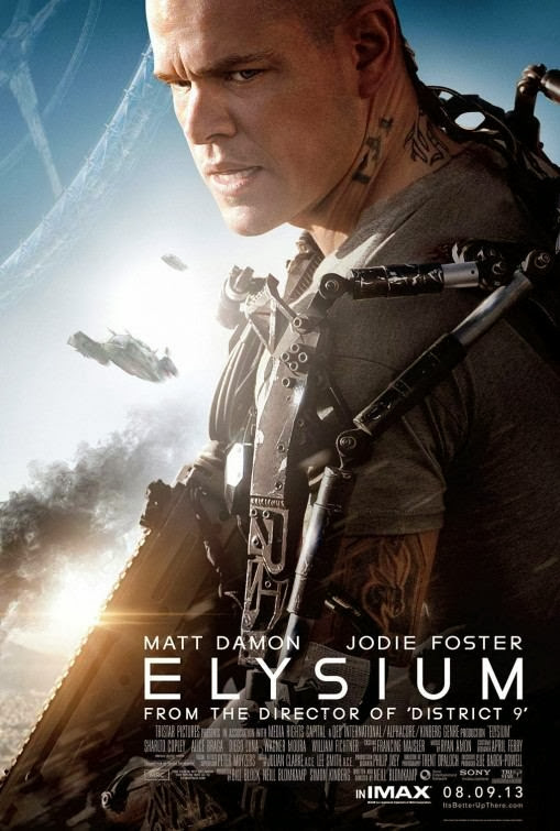Poster Of Elysium (2013) Full Movie Hindi Dubbed Free Download Watch Online At alldownloads4u.com