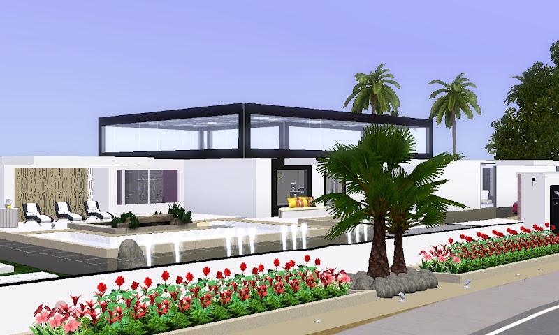 Capital sims ver tema casa moderna para sims 3 for Casas modernas sims 4 paso a paso