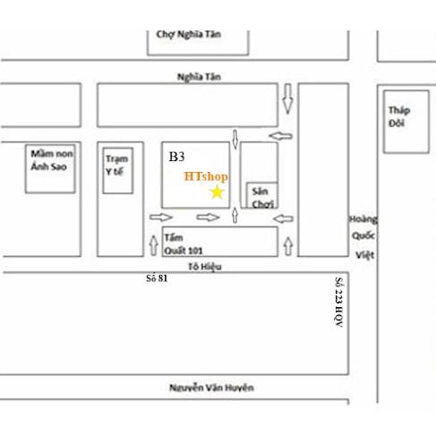 Bản đồ cơ sở 3 HTshop 101b -B3 Nghĩa Tân Cầu Giấy