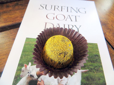 Surfing Goat Dairy Farm in Maui's chocolate truffle with apple banana curry powder with goat milk