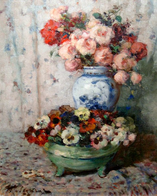Fernand Toussaint - Still life with Flowers