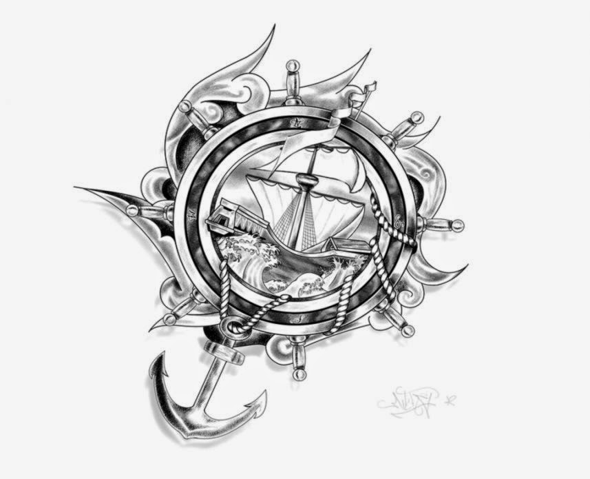 Tattoo Design  Ship Anchor and ropes by Drocel on DeviantArt