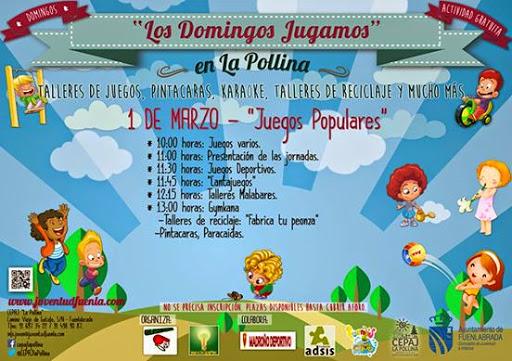 Actividades y juegos familiares los domingos en La Pollina- Son totalmente gratuitos y se desarrollarán entre el 1 de marzo y el 26 de abril en domingos alternos desde las 10 de la mañana