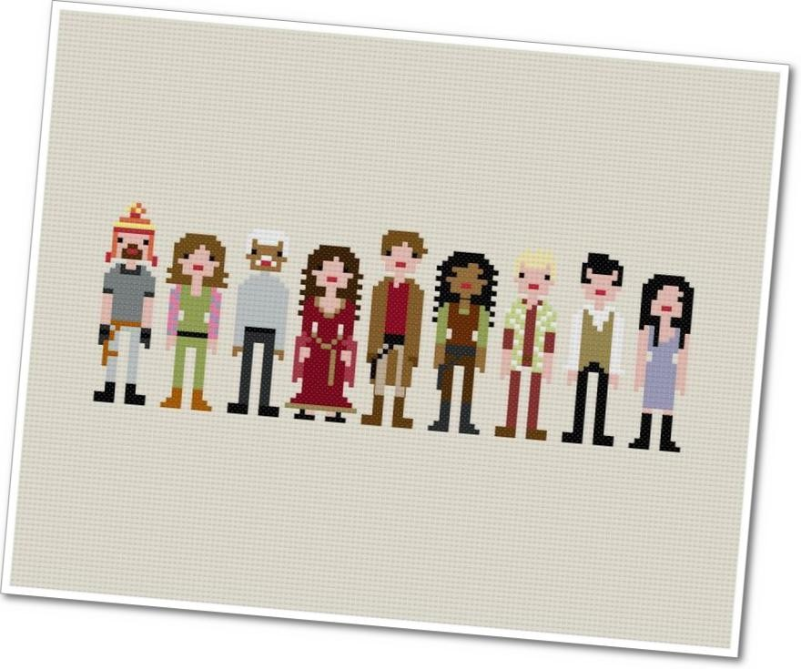 Serenity Crew Cross Stitch
