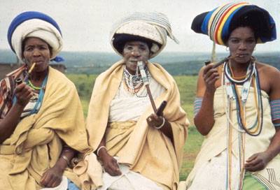 ... Xhosa. This is how Xhosa women used to dress originally. Everyday, not
