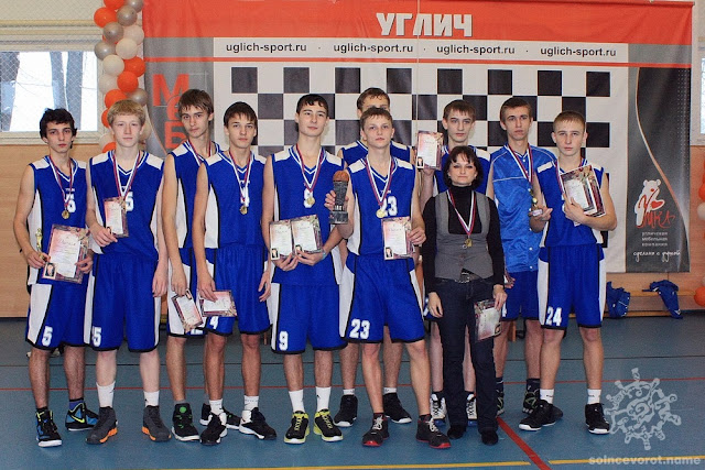 Угличская команда - победитель Рождественского турнира по баскетболу