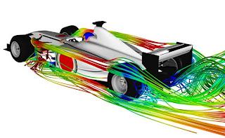 flujod e aire en un monoplaza aerodinámica
