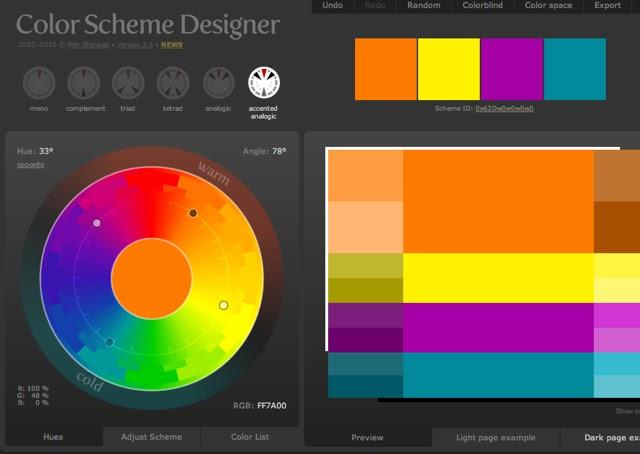 2 Good Claymates: Blog Debris - Color Scheme Designer