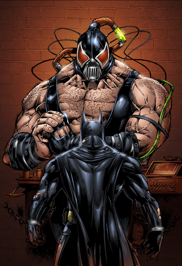 Batman vs Bane pencils by Marcio Abreu and colors by SeanE