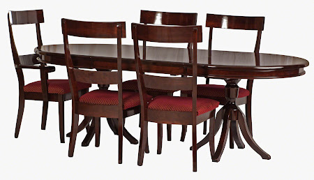90 x 48 Tonkin Dining Table in High-Gloss Rich Cherry and Chairs with Velvet Seats