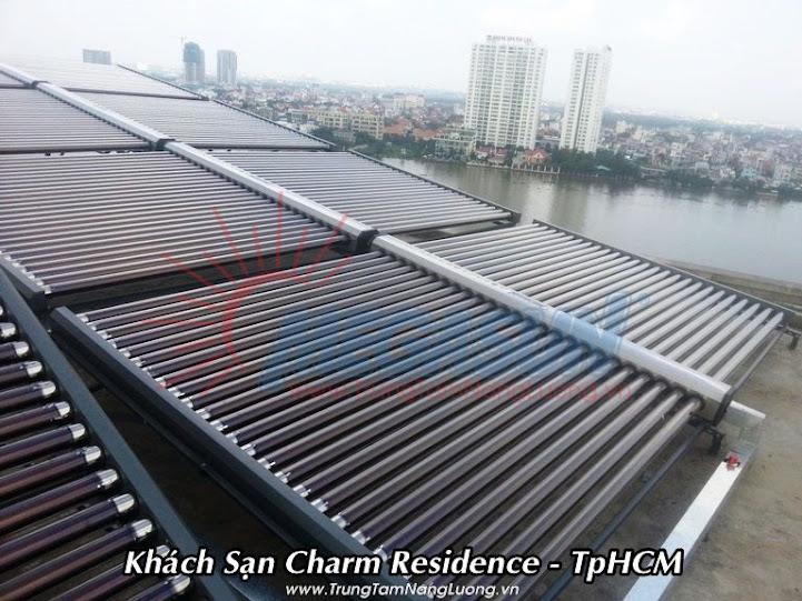 Hệ thống máy nước nóng năng lượng mặt trời KS Charm Residence - Bình Thạnh, TPHCM