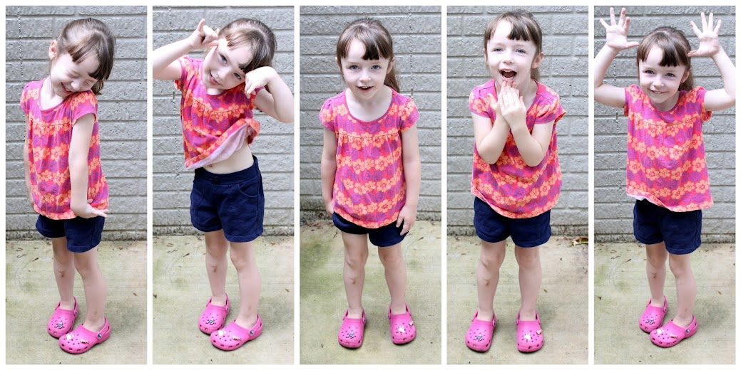 Poppy Tunic sewing pattern || Jane must pose for the camera, too.