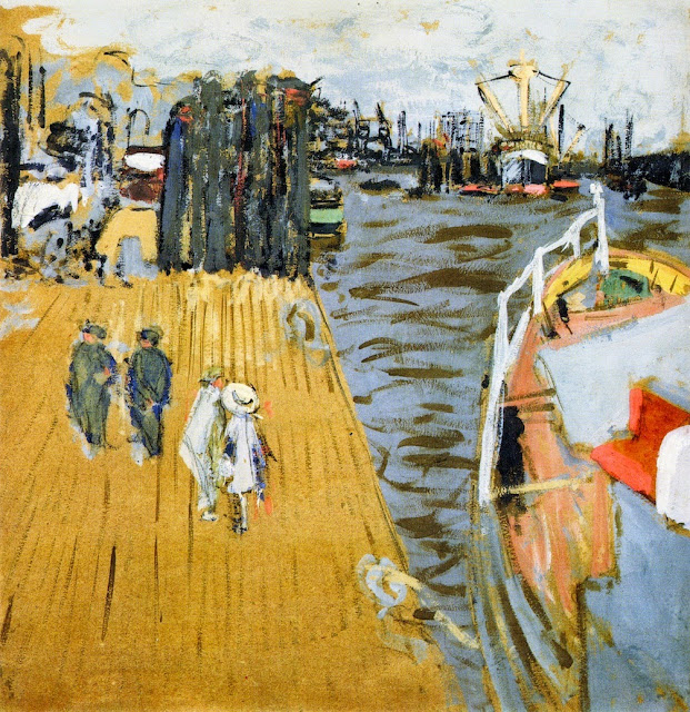 Édouard Vuillard - Boat at the Quayside, Hamburg