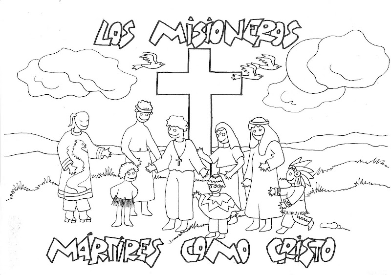 Missionaries coloring pages