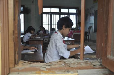 Cả chính quyền và ngành GD-ĐT đang kêu gọi chủ trương xã hội hóa đầu tư xây dựng cơ sở vật chất cho các trường học ở Lý Sơn.