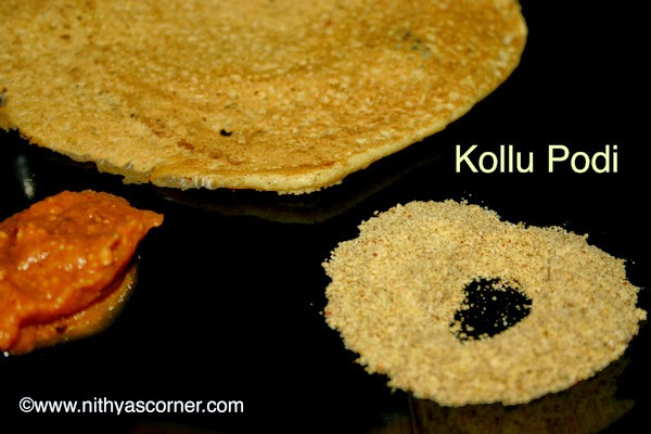 How to make horsegram powder for idli, dosa and rice