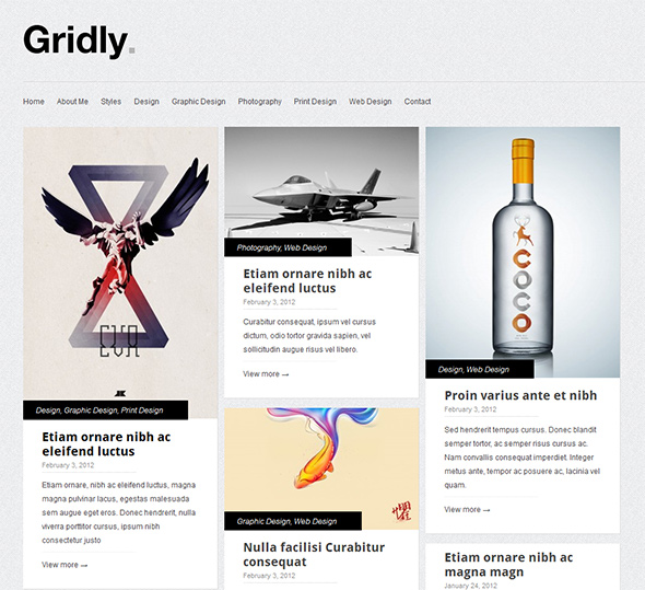 Gridly WordPress Theme with Responsive Layout