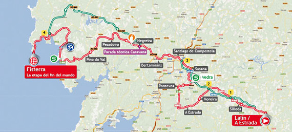 La Vuelta 2013. Etapa 4. Lalín - a Estrada - Fisterra. Etapa Fin del Mundo. @ Unipublic
