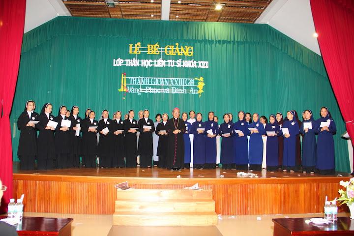 Thánh lễ tạ ơn và bế giảng lớp thần học liên tu sĩ tại Tòa Giám Mục Nha Trang.
