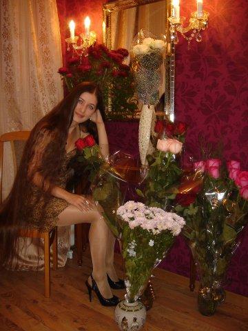 very long hair photo russian girl woman