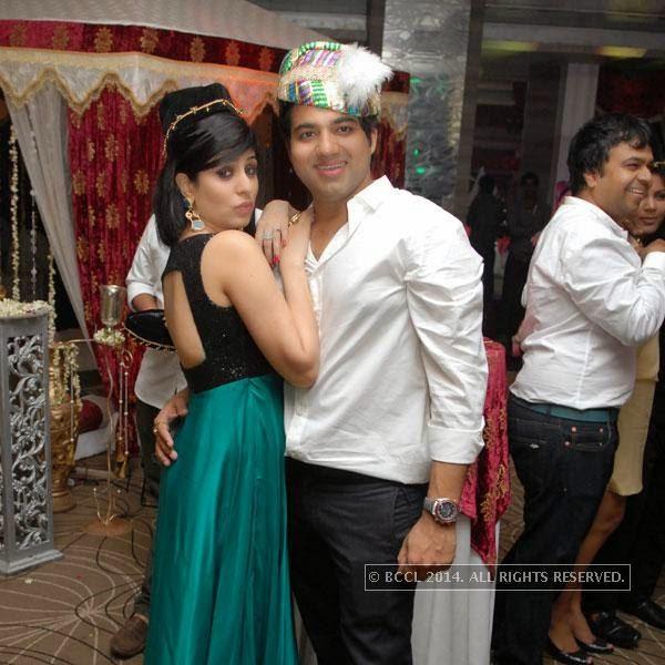 Ritu and Shravan Kukreja during the latter's birthday party, in Nagpur.