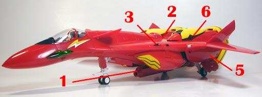 Macross 7 VF-19 Kai Excalibur Custom Armament weapon position