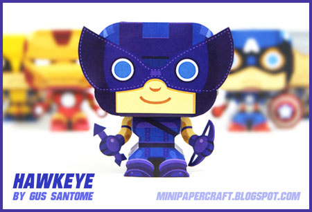 Mini Hawkeye Paper Toy