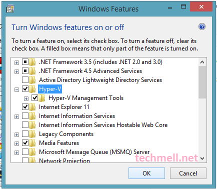 Hyper-V Enabled in Windows 8.1