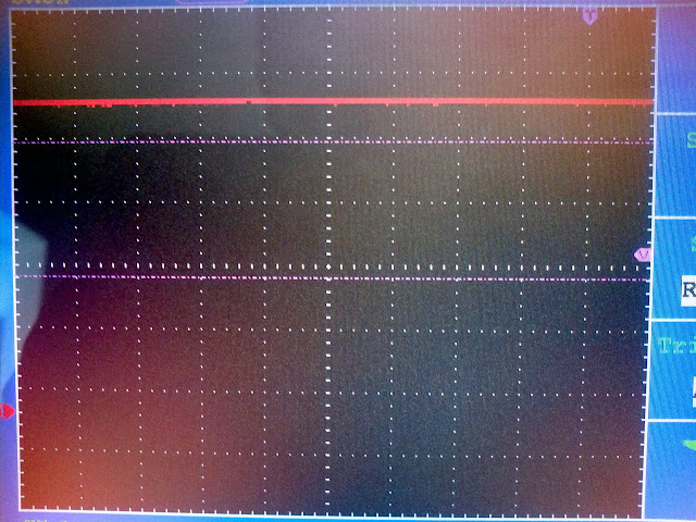 ir receiver signal as seen in oscilloscope